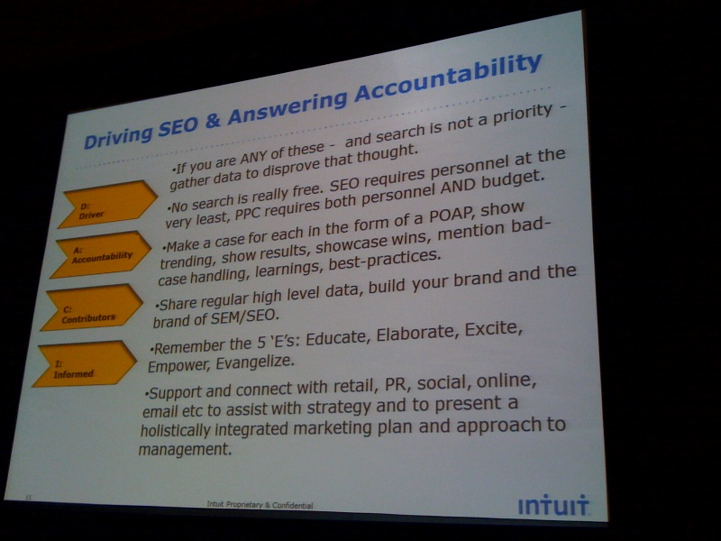 driving SEO and accountability slide
