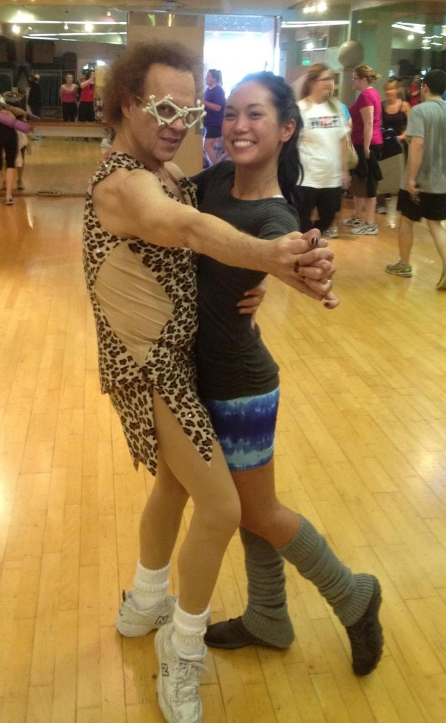Richard Simmons takes Virginia for a twirl