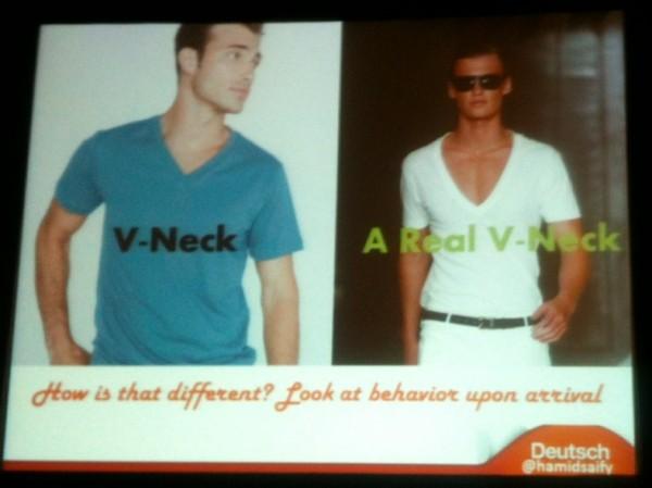 men in v-necks