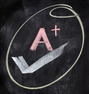 A+ on chalkboard