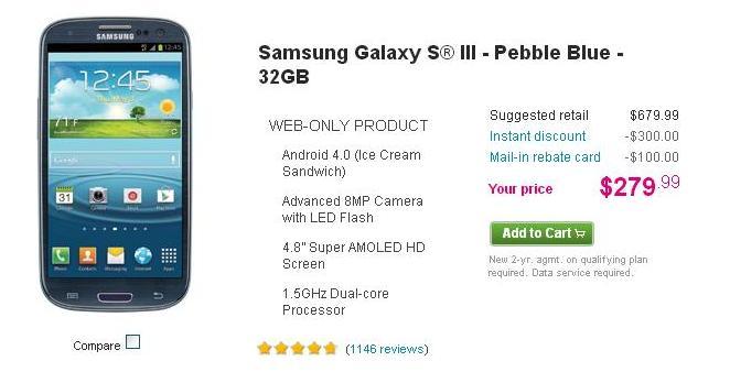 Image of Samsung Galaxy S3