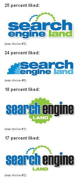 Search Engine Land Logo Options 2006
