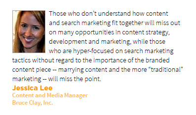 Jessica Lee Prediction for Content Marketing in 2013