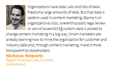Nicholas Kinports Prediction for Content Marketing in 2013