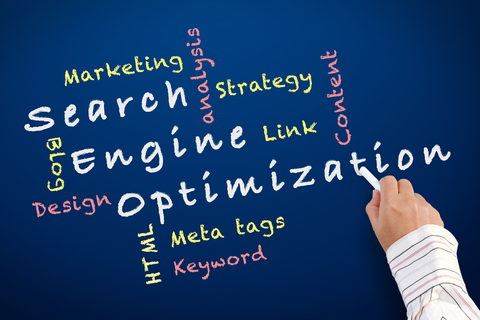 Search Engine Optimization on a Chalkboard