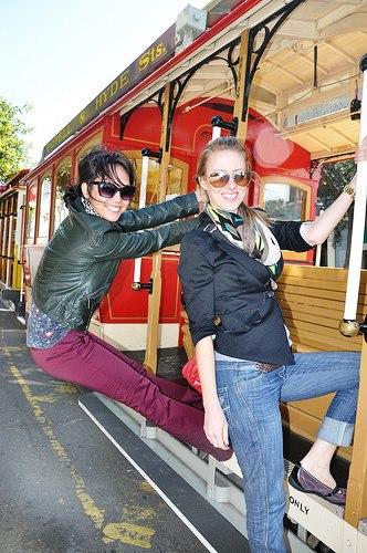 Hanging Out on a Trolley in San Francisco