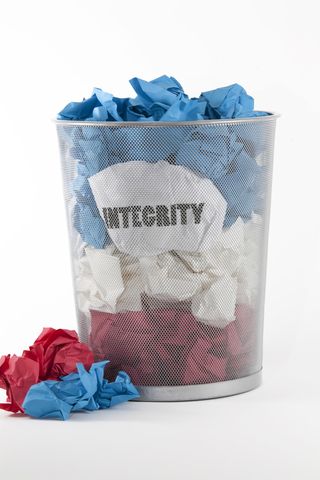 Paper in a Wastebasket