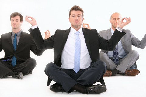 Businessmen Meditating