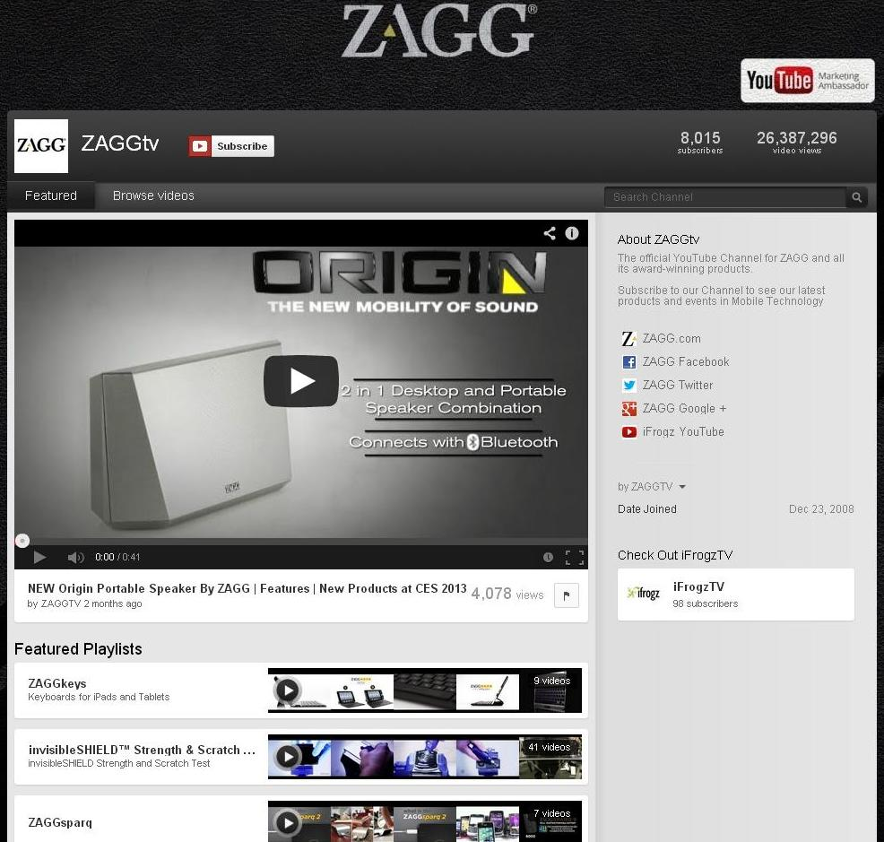 ZAGGtv on YouTube