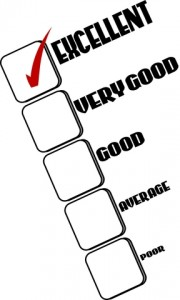 Rating check list with Excellent checked