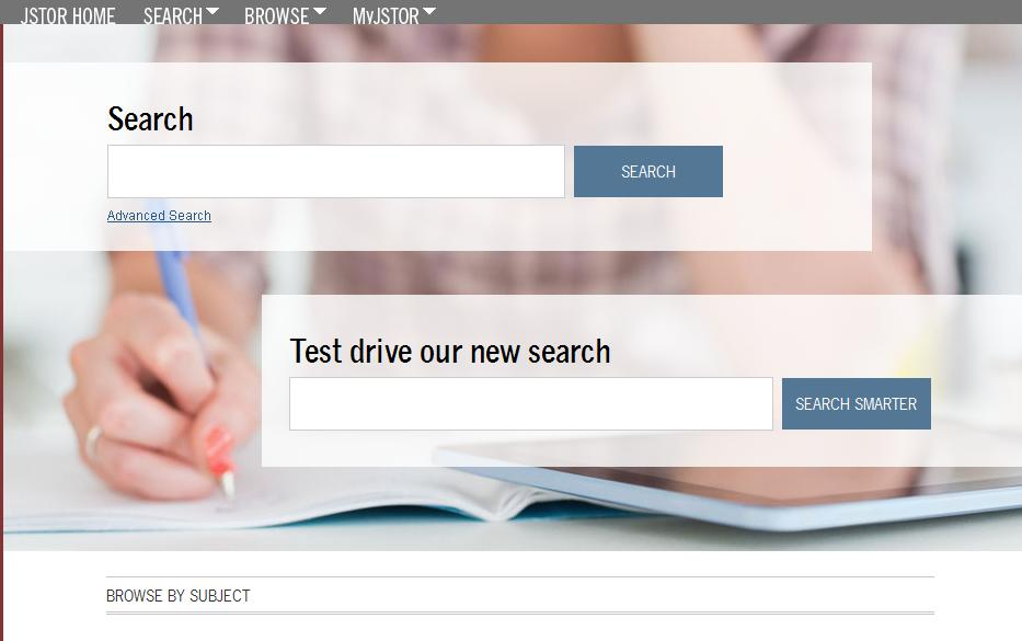 Screenshot of JSTOR