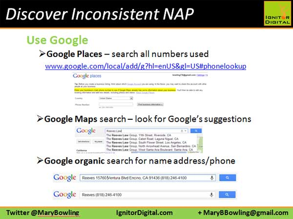 Discover Inconsistent NAP