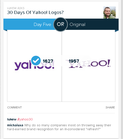 Polar Yahoo! logo opinion poll