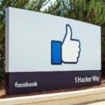Facebook headquarters sign on Hacker Way