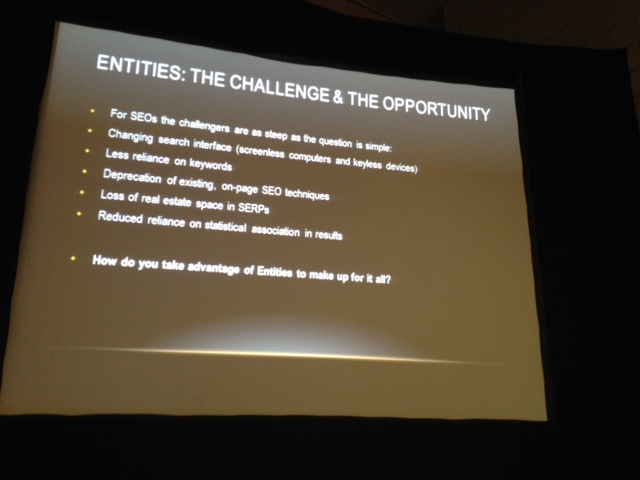 Entity search - challenge is opportunity