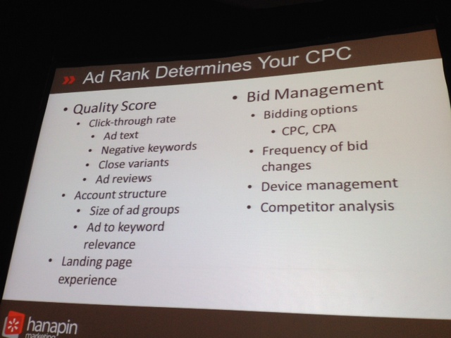 SMX Prioritization session 21B - adrank determines ppc