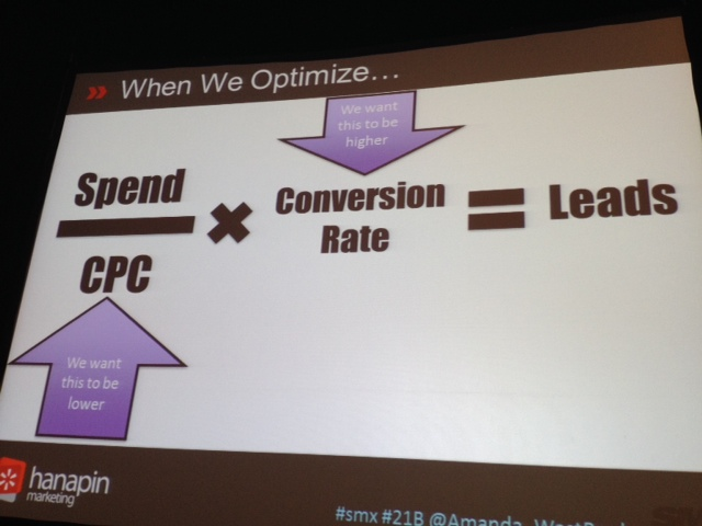 SMX Prioritization session 21B - why we optimize PPC