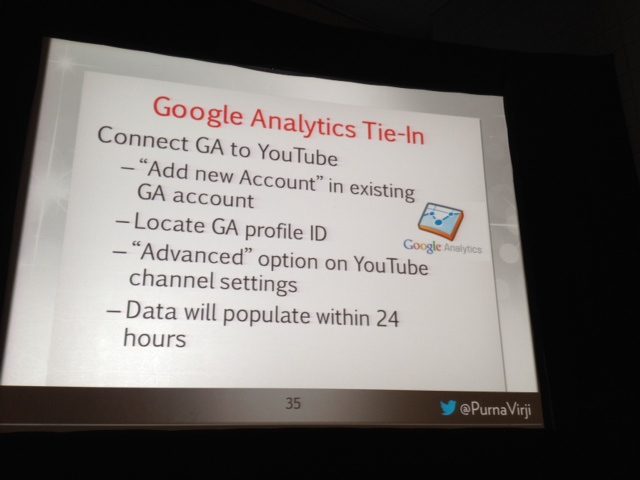 YouTube optimization Google Analytics tie in