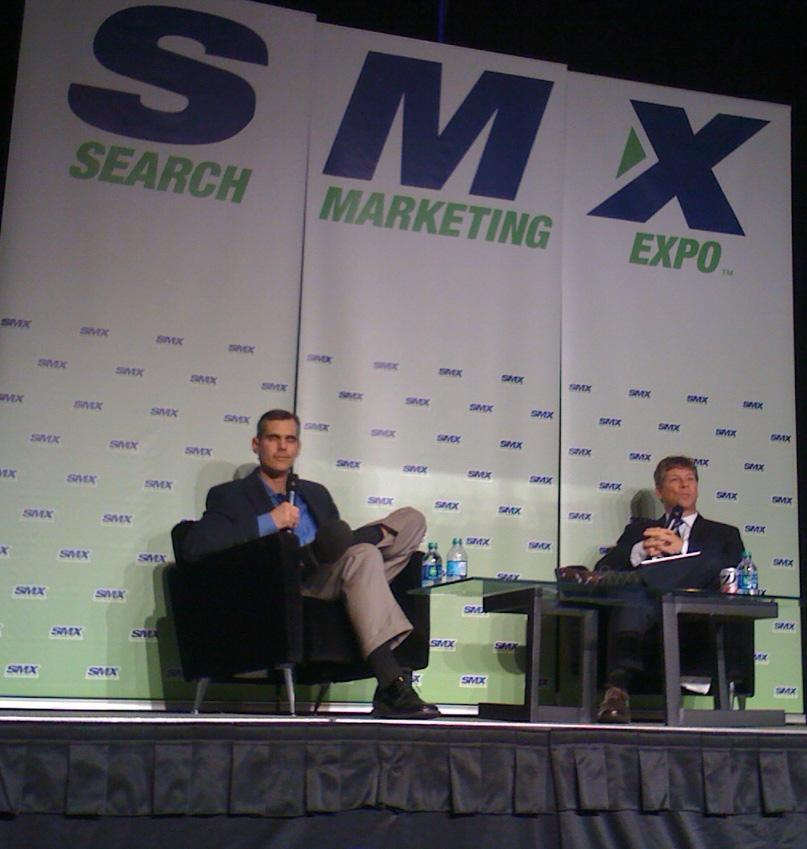 Richard Alfonsi and Danny Sullivan at SMX East