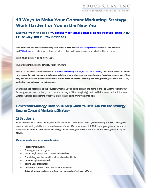 Image of the Content Marketing Strategy PDF