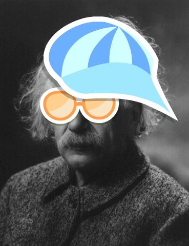 """cool dude"" Albert Einstein"