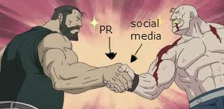 epic Social Media handshake