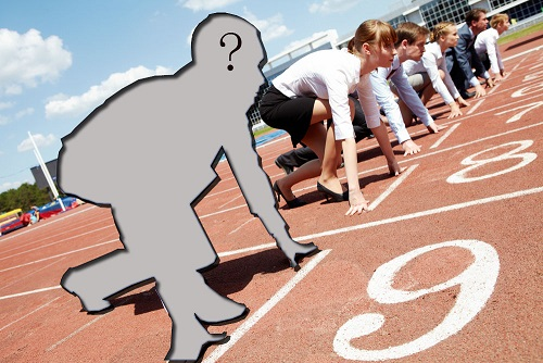 Invisible man at the starting line