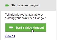 Start Hangout