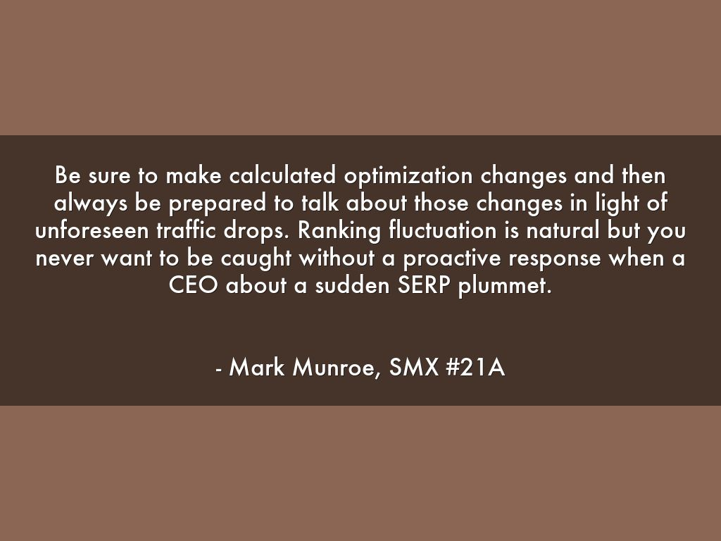 make calculated changes - smx