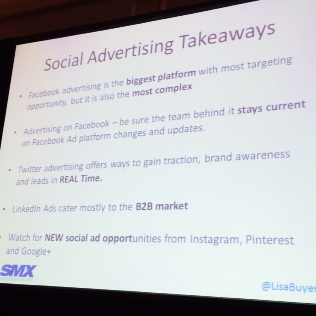 social advertising takeaways slide
