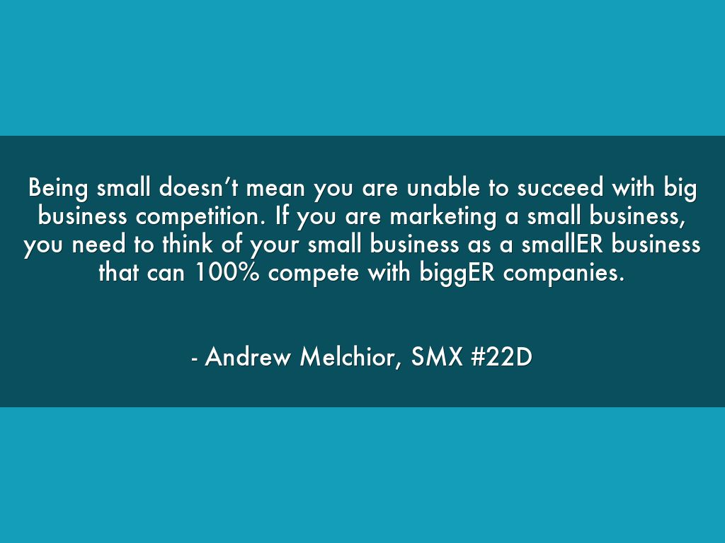 smaller can compete-smx