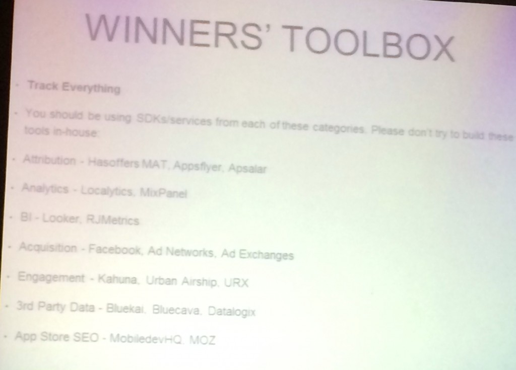 mobile app winner's toolbox