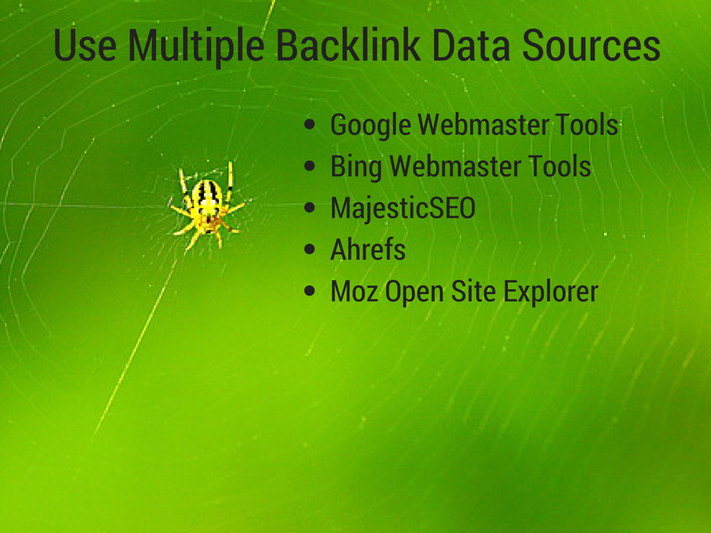 Use Multiple Backlink Data Sources(1)