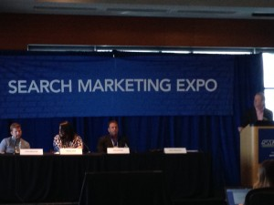 SMX panel on content marketing
