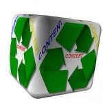 content cube with recycle logo