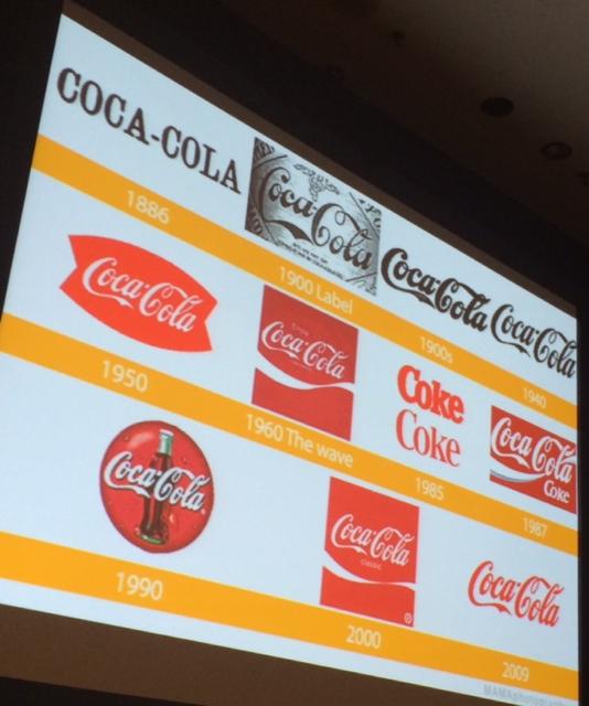 Coke red logos