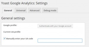 setting up Google Analytics with Yoast