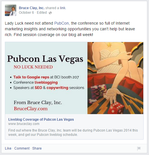Bruce-Clay-Inc-Pubcon-Facebook-Post