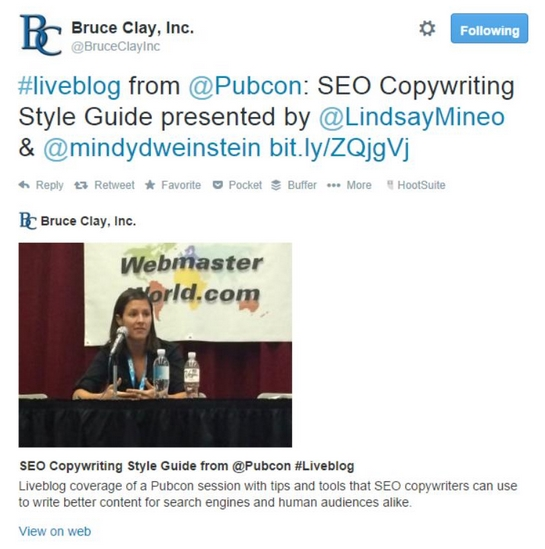 Bruce-Clay-Inc-Pubcon-Twitter-Post