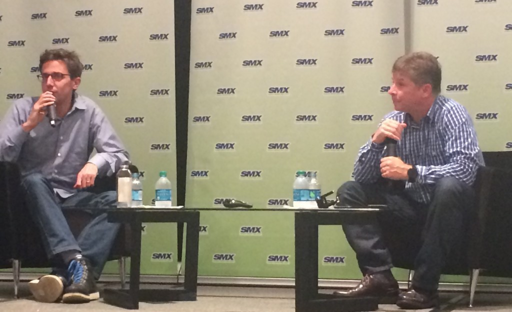 Jonah Peretti and Danny Sullivan at SMX East Keynote Conversation