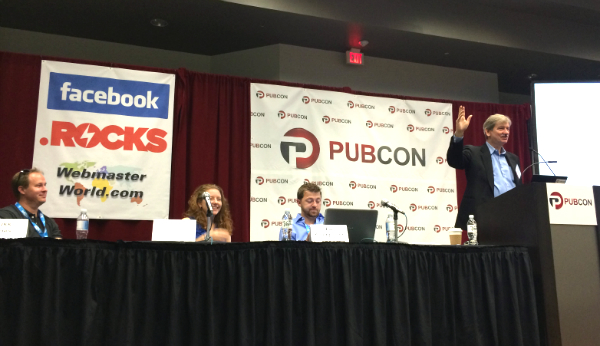 A session on link building presented at Pubcon