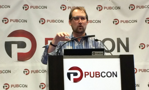 Rob Garner at Pubcon Las Vegas 2014