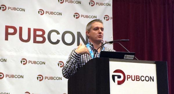 Rob Woods at Pubcon Las Vegas 2014