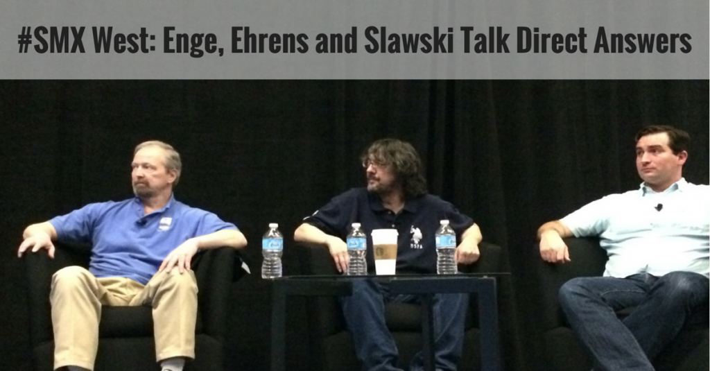 Enge, Ehrens and Slawski on Direct