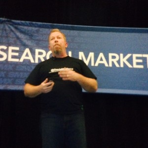 David Wallace on stage at SMX West