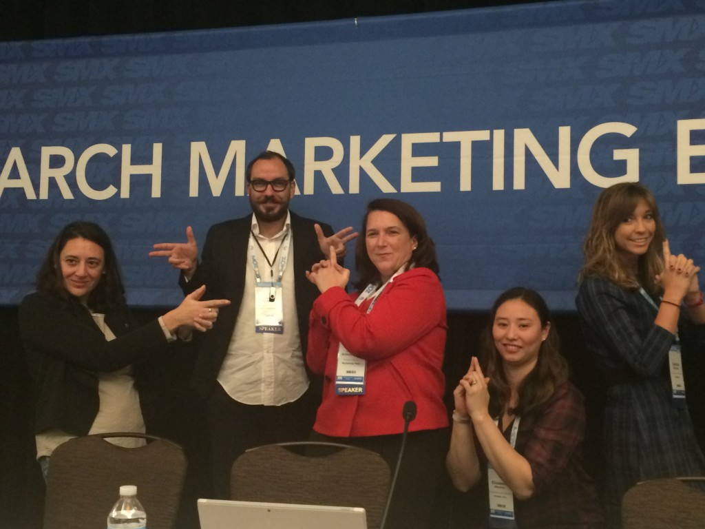 "Five SMX West 2015 session speakers after the ""Search and social"" SMX session"