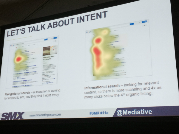 Slide on user intent