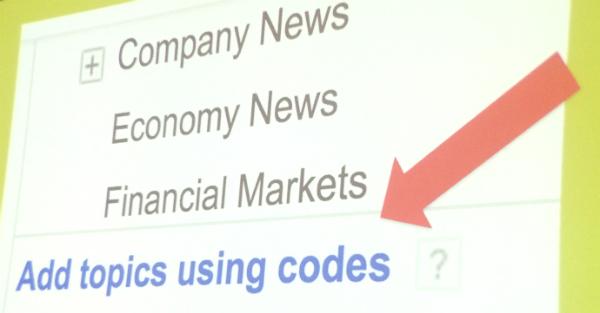Topics codes slide