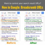 New in Google: Breadcrumb URLs
