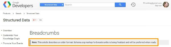 google-breadcrumb-documentation